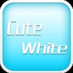 Cute White EmojiKeyboard Theme