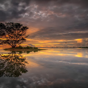 twins by I Made  Sukarnawan - Landscapes Waterscapes ( bali, sunset, trees, travel, sunrise, landscape, island,  )