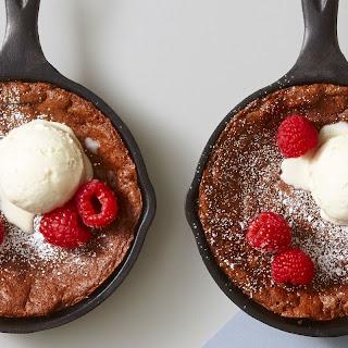 Molten Chocolate Skillet Brownies.