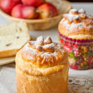 Traditional Ukrainian baked paskha