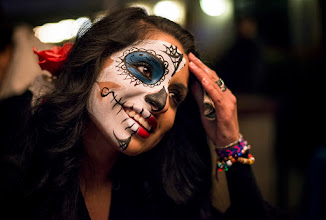 Photo: A fun night out at the Day of the Dead festival in Fort Worth. Lots of good music, food, art and people in costume. I continue to be amazed at the low light capability of the Nikon D800 - 50mm 1.4 combo. It's just crazy.