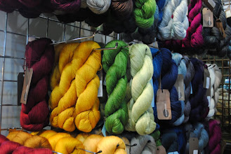 Photo: I have arrived at Fyberspates. I could live happily in a box of Fyberspates yarn... I want ALL OF IT! (Here the Scrumptious rack)