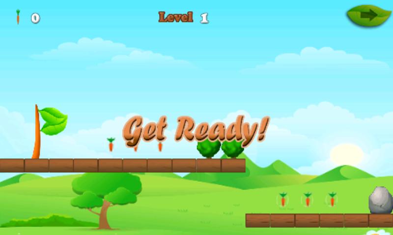 android Rabbit And Carrots Run Game Screenshot 4