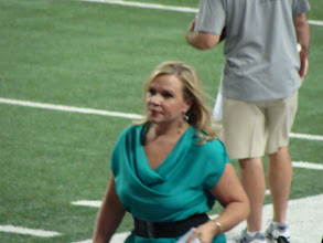 Photo: ESPN sideline reporter Holly Rowe.