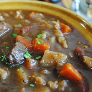 Slow Cooker Beef and Barley Stew.