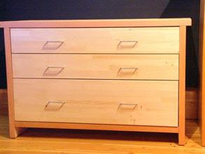 Photo: 3 Drawer cedar dresser with clear fir edge banding.