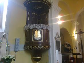 Photo: Szószék, balról Szűz Mária, jobbról a Piéta