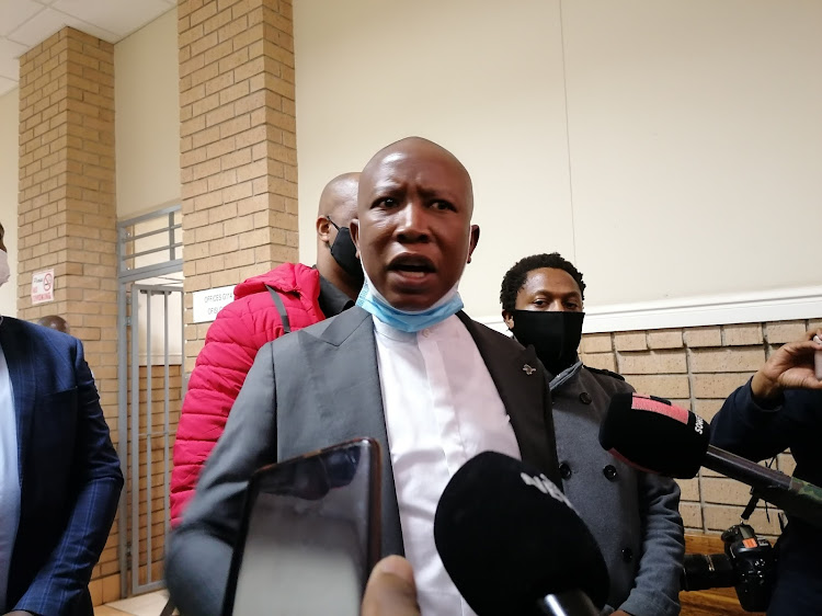 EFF leader Julius Malema said the police officer who accused him and MP Mbuyiseni Ndlozi of assault lacked ubuntu.