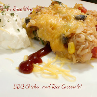 BBQ Chicken and Rice Casserole!.