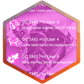 Pink Butterflies GO SMS Theme