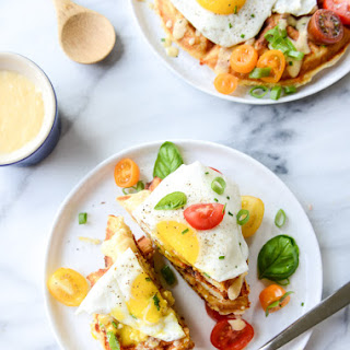 Cheddar Cornbread Waffles with Fried Eggs