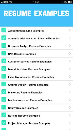 1000+ Resume Examples 4.0 screenshots 5