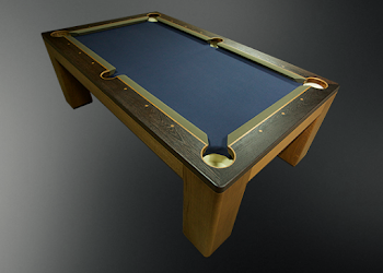 Side top view of USA Spartan Pool Table