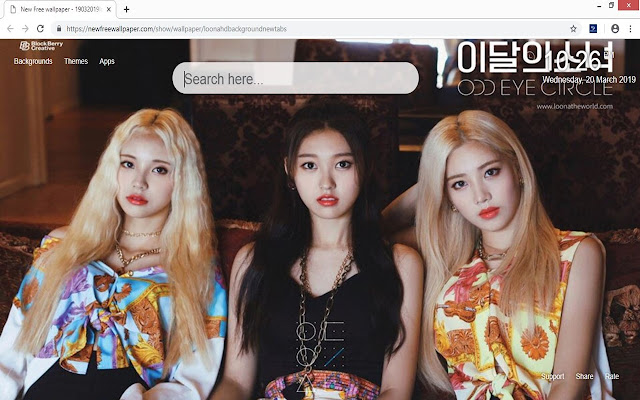 Loona HD background new tabs