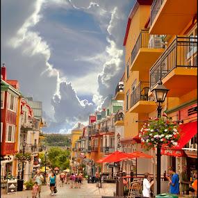 Mont-Tremblant Village Canada by Michel Arel - Landscapes Cloud Formations ( canon, canada, village, hdr, mt-tremblant, michelarel, #pixoto, tremblant, mont-tremblant, street. michel arel, québec )
