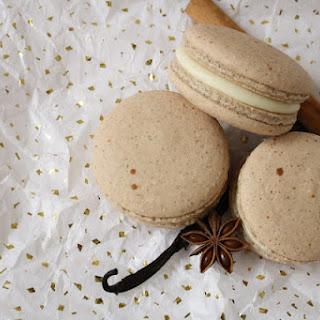 Vanilla Chai Macarons with Vanilla Bean Cream