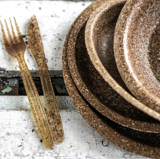 Biotrem's edible dishes are made from wheat bran.