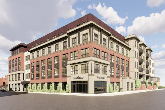 The Aubrey apartment building rendering