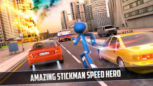 Grand Stickman Rope Hero Crime City screenshot 4