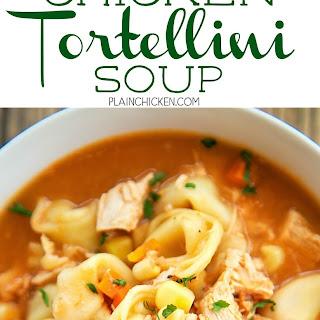 Southwestern Chicken Tortellini Soup