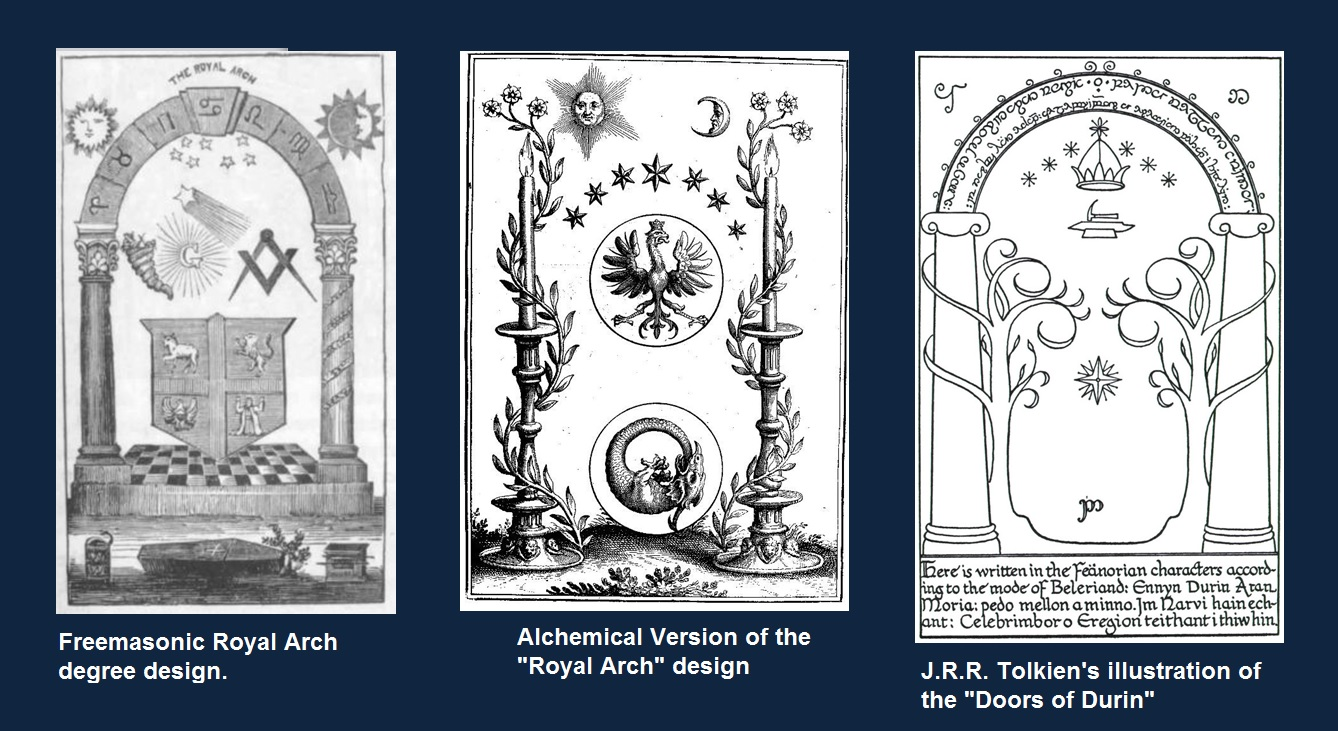 Magical Door of Durin and Royal Arch masonic designs.jpg