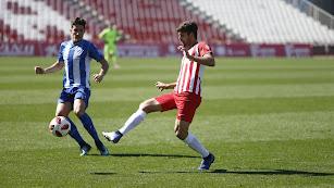 Mario Abenza en el partido ante el Jumilla.