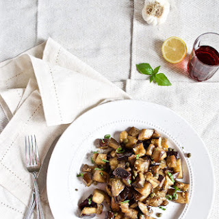Garlic Eggplant with Capers