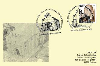 Photo: Matasellos de la declaración de la Iglesia Vieja de Sabugo como Bien de interés Cultural, Avilés 2006
