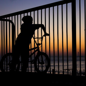 Kid Biker by Simon Gilgallon - Novices Only Sports ( bike, silhouette, pedals, wheels, bmx )