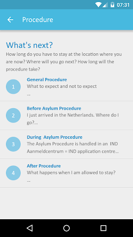 android Red Cross Refugee Buddy Screenshot 1