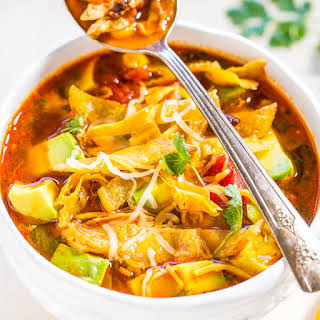 Easy 30-Minute Homemade Chicken Tortilla Soup.