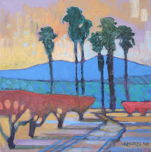 Photo: Orchards and Palms, acrylic on canvas by Nancy Roberts, copyright 2014. Private collection.