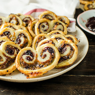Easy, 3 ingredient Berry and Cheese Palmiers ( Savory Palmiers ).