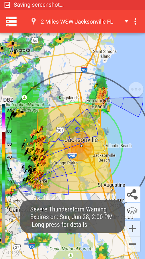 Storm Alert Lightning & Radar- screenshot