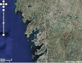 Photo: Imagen por satélite de las rías gallegas