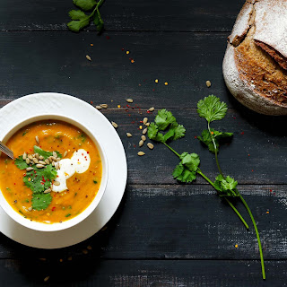 Spiced Carrot and Coriander Soup Recipe