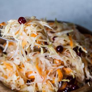 Sauerkraut with Sugar and Cranberries