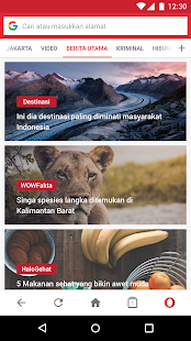 Opera Mini - web browser cepat- gambar mini screenshot