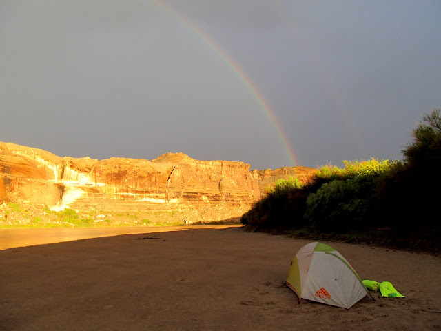 Rainbows above camp