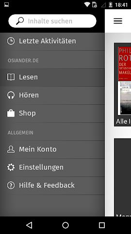 android OSIANDER eBooks mit tolino Screenshot 1