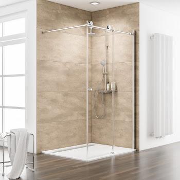 Paroi de douche coulissante à l'italienne Walk In, 120 ou 160 cm