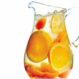 Apricot Sangria Cocktail.