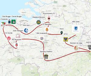 🎥 Genk-supporters reisden heel het land door op bezoek in alle voetbalstadions, inclusief plaagstootjes aan de concurrentie