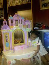 Photo: Kaleya w/ her vanity/castle!