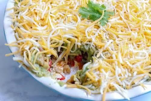 "Fajita Dip""The fajita seasoning mixed with chopped chicken and veggies really tastes..."