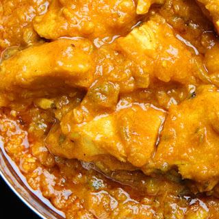 Spicy Chicken with Dhal.