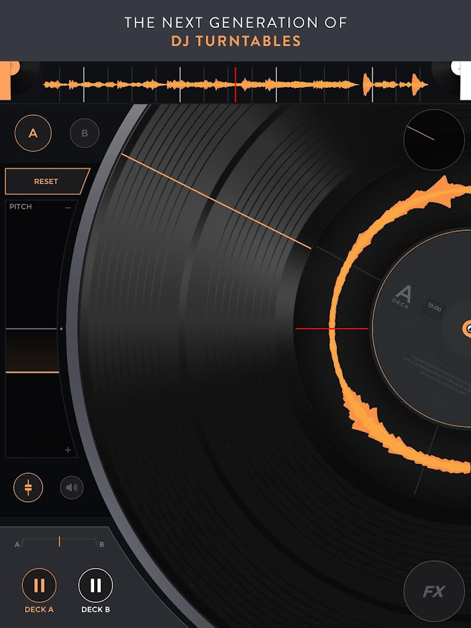 Mixfader dj - digital vinyl- screenshot
