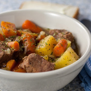 Slow Cooker Meat-And-Potato Lovers' Simple Beef Stew.