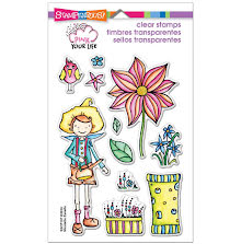 Stampendous Pink Your Life Perfectly Clear Stamps 4X6 - Whisper Garden UTGÅENDE