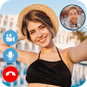 Fake Video Call : Girlfriend Fake Time Simulator icon